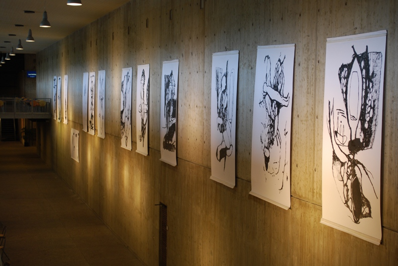 Exhibition of big drawings at the RUN, 2009, Nijmegen