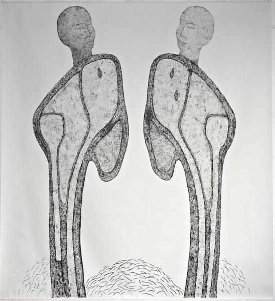 Artoll, Bedburg-Hau, Germany, acryl on paper 270/ 300cm, 2015