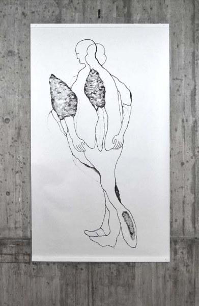RUN, acryl on paper, 150/ 260cm, 2009