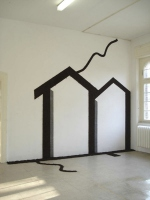 Openhuis, Potgrond, Lijm, Triplex, Lood, 260/ 260cm, Artoll/ BedBurg-Hau (Dld), 2007